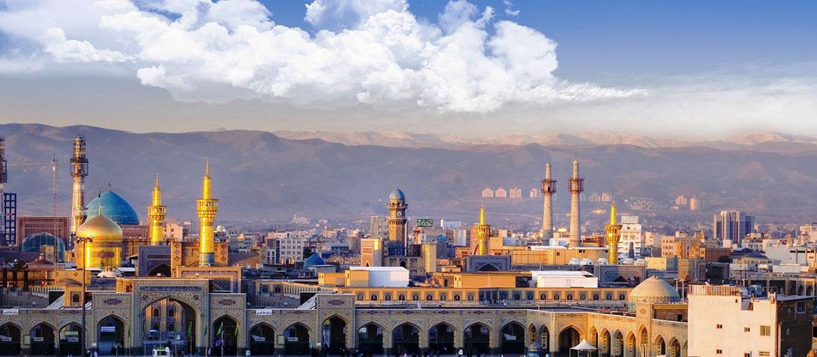 نمایی زیبا از حرم مطهر امام رضا(ع) شهر مشهد