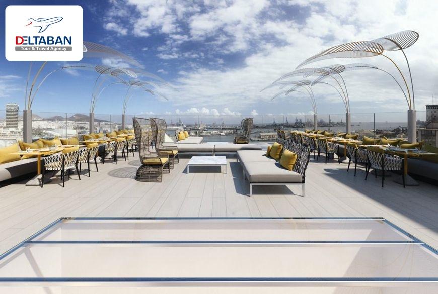 محوطه هتل دیزاین پلاس بکس جزایر قناری