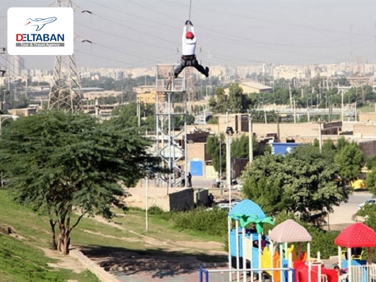 Rappel riding in Ahvaz rock park