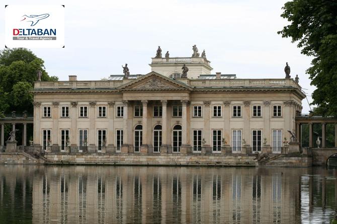 کاخ لزینکوفسکی از جاذبه های گردشگری ورشو
