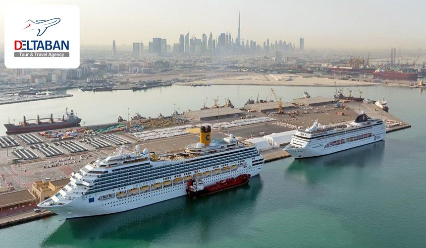 نمایی از کشتی ها در دریا