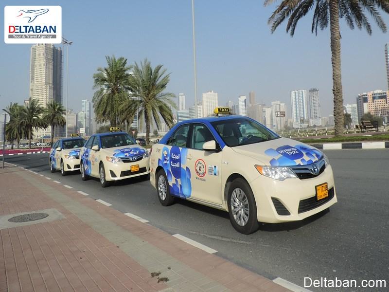 حمل و نقل از فرودگاه دبی با استفاده از تاکسی