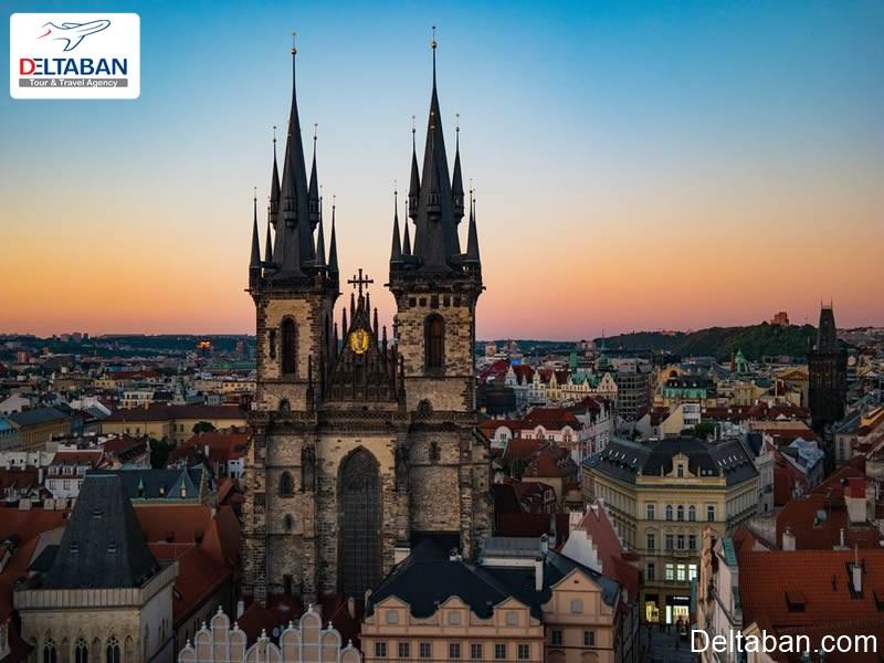 کلیسایtynm و جذابیت مکان های تاریخی و باستانی پراگ