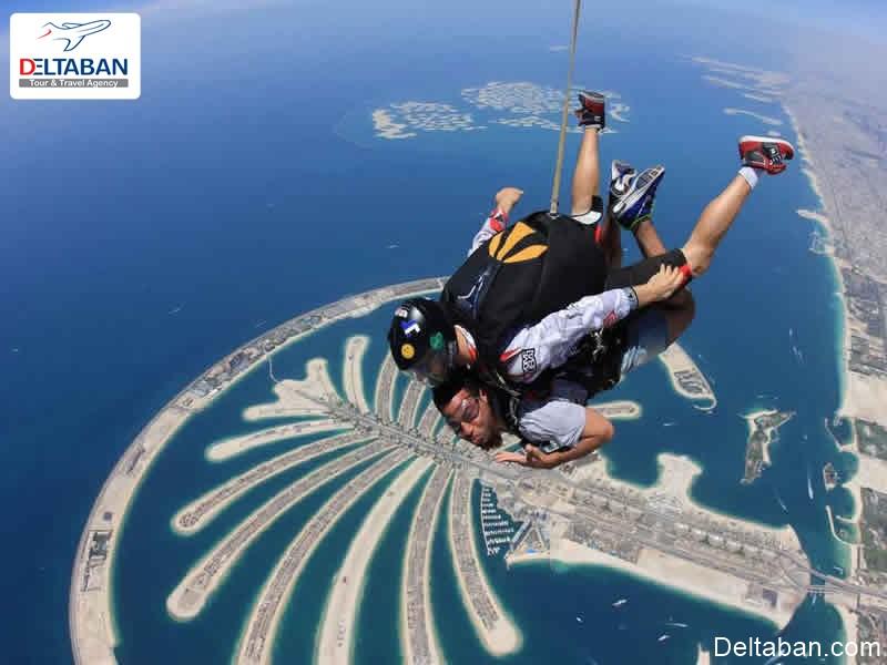 چتربازی از جمله تفریحات ورزشی دبی