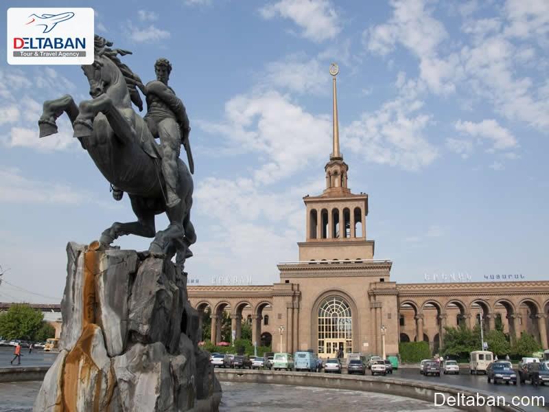 ایستگاه راه آهن از جمله اماکن تاریخی ایروان