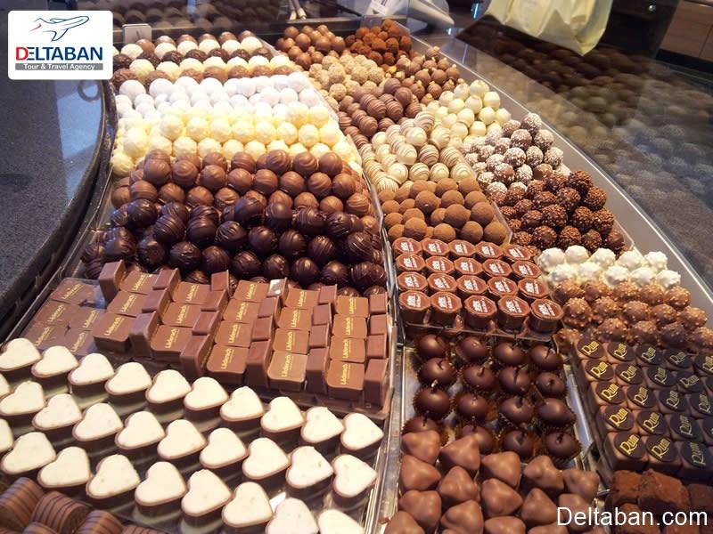 شکلات از جمله سوغاتی های سوئیس