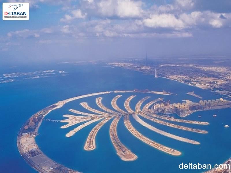 نمایی از جزایر مصنوعی Palm از لاکچری ترین های دبی