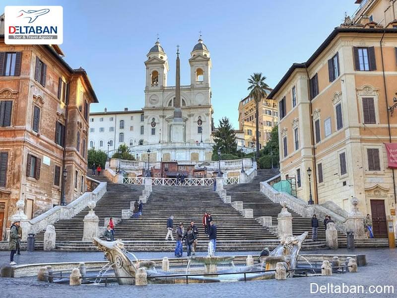 پله های اسپانیایی از جاهای دیدنی رم