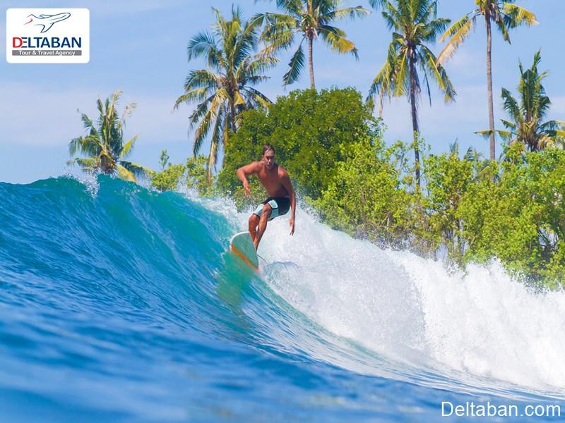 موج سواری از تفریحات دریایی بالی
