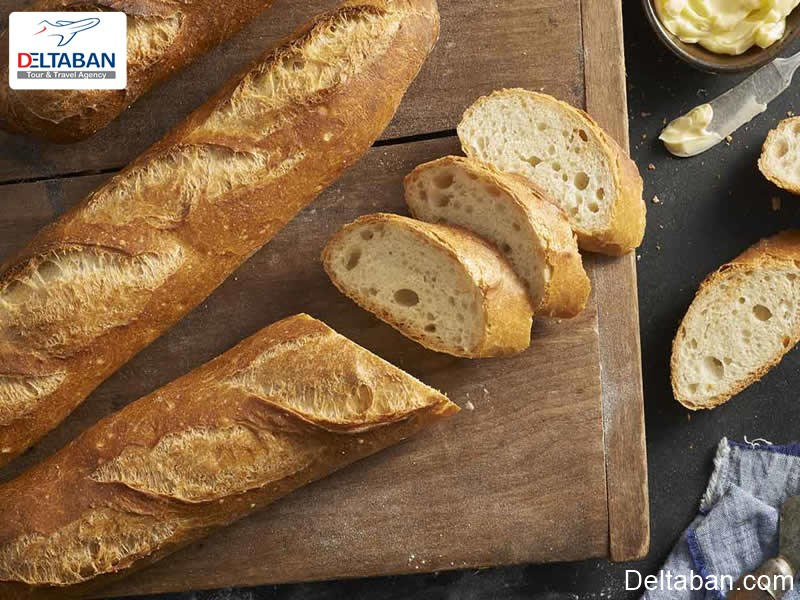 نان باگت مخصوص از خوراکی های پاریس