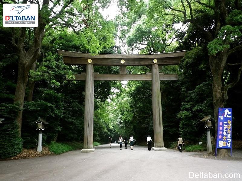 معبد میجی از مهم ترین جاذبه های تاریخی توکیو
