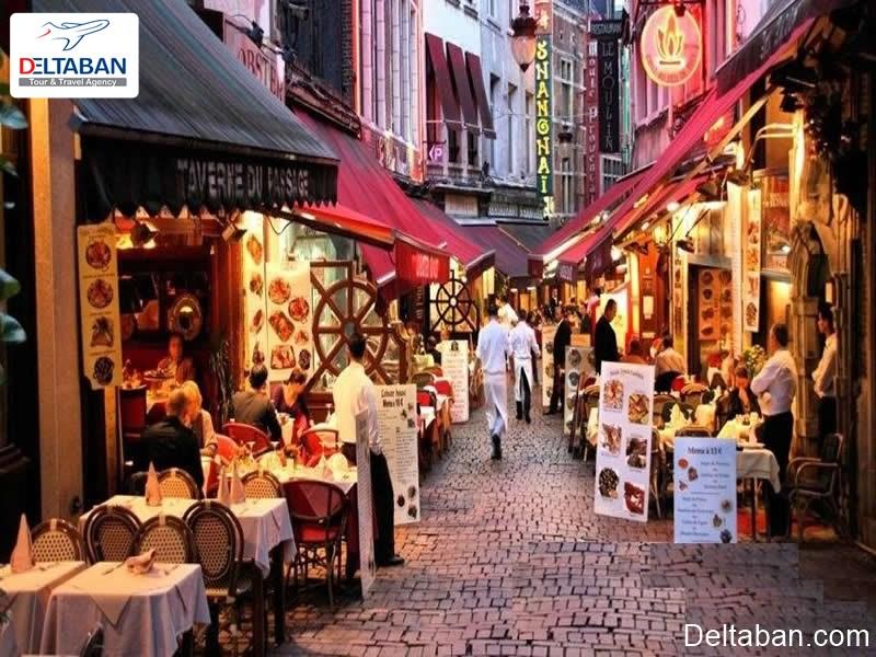 نمایی از خیابان فرانسوی از زیباترین خیابان های معروف استانبول