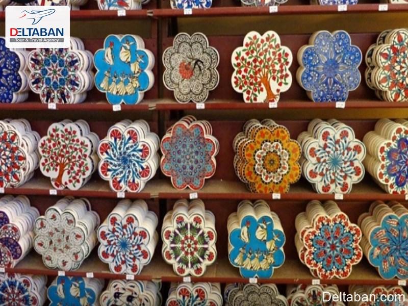 ظرف های شیشه از صنایع دستی استانبول