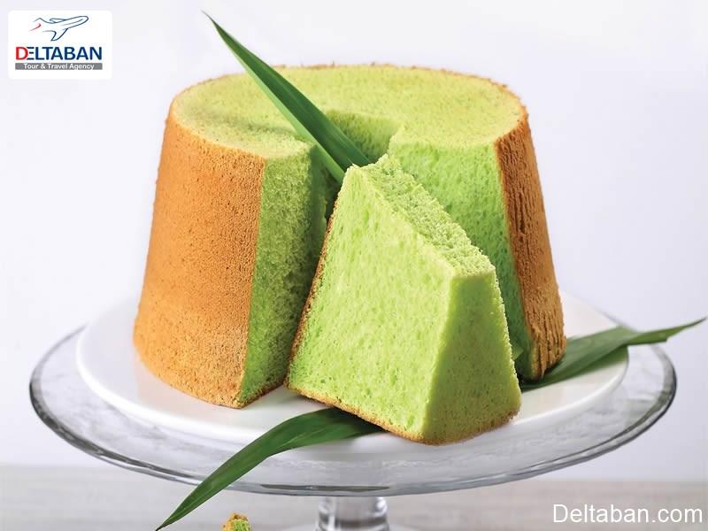 کیک پاندان از دسرهای کوالالامپور