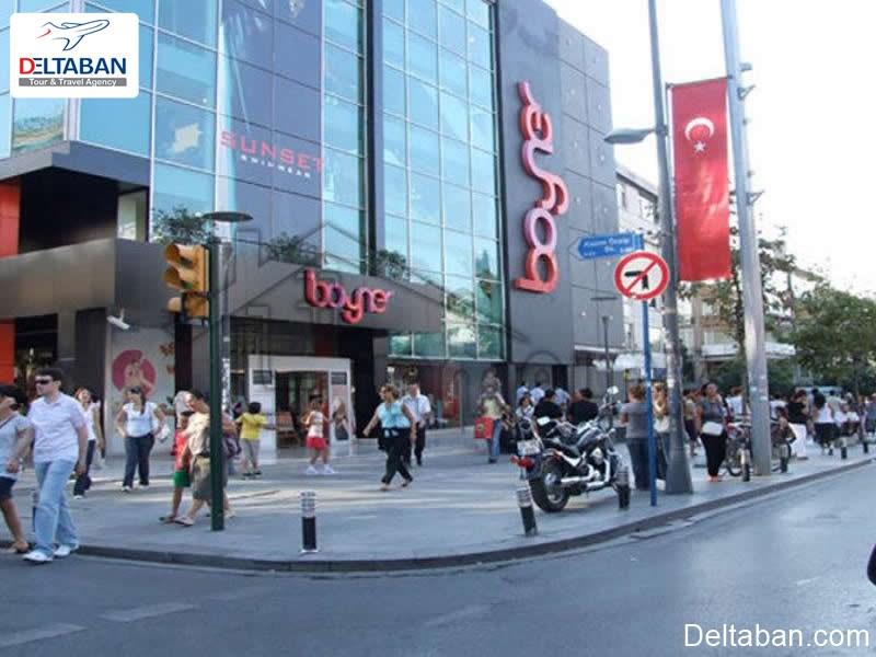 نمایی از خیابان بغداد از خیابان های معروف استانبول