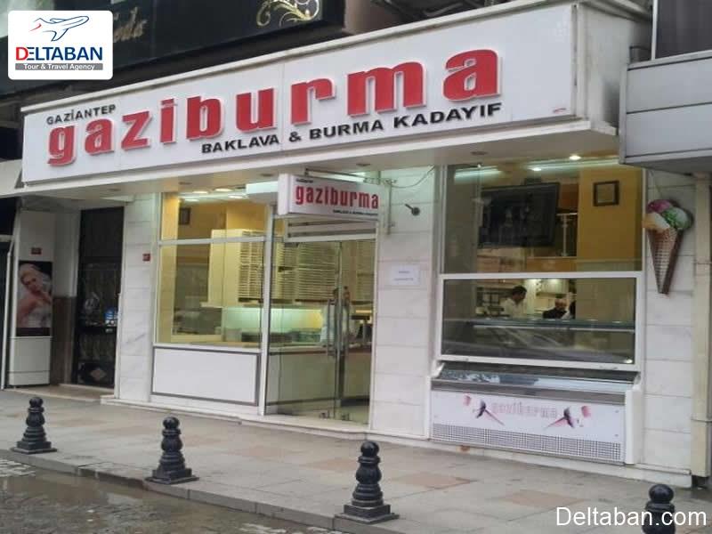 Gazi Burma از بهترین فروشگاه های باقلوای استانبول