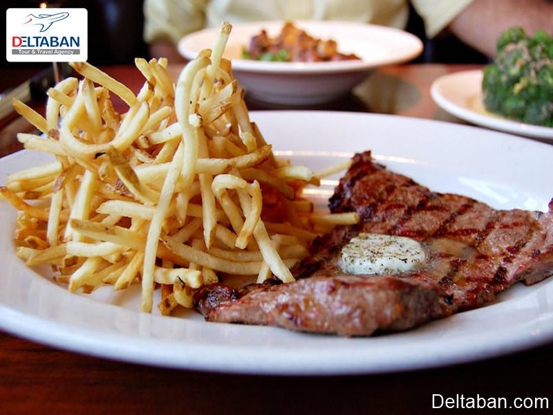 خوراک مخصوص استیک سرخ شده