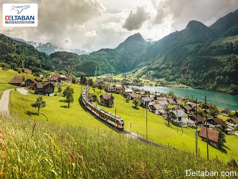 قطارسواری در سوئیس از دلایل سفر به سوئیس