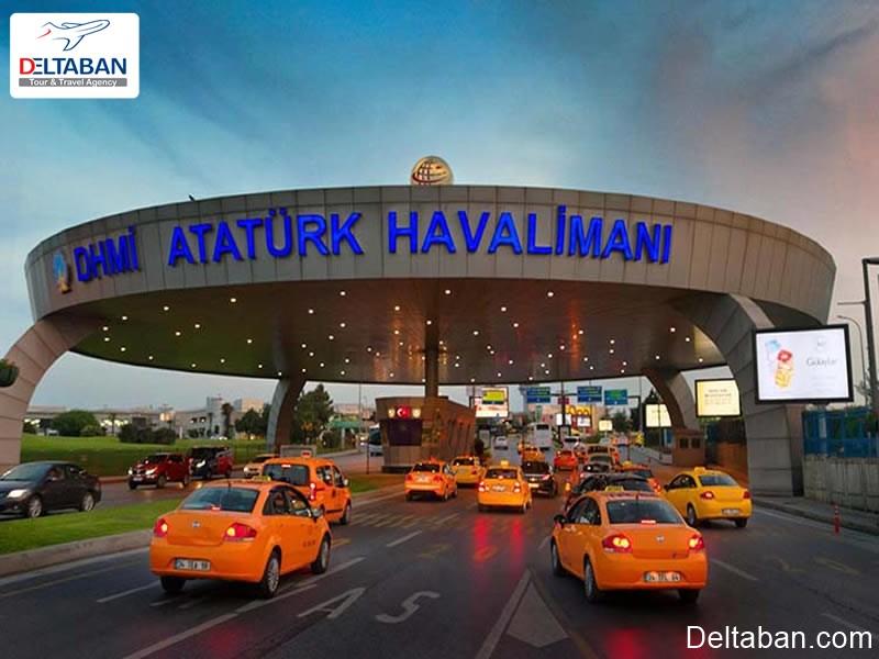 تصویری از تاکسی های فرودگاه استانبول