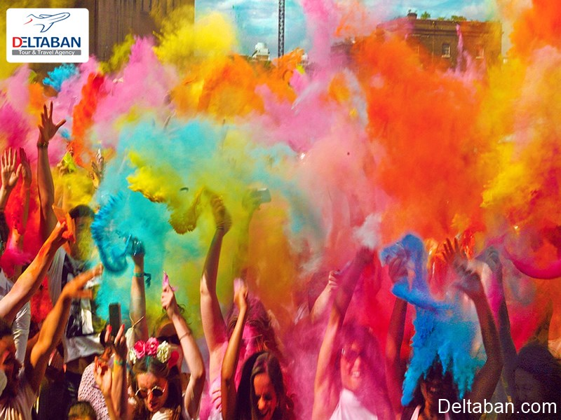 جشنواره رنگ از فستیوال های گرجستان