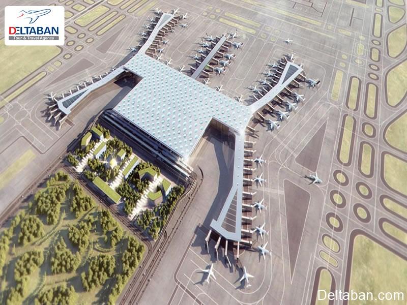 تصویر هوایی از فرودگاه جدید استانبول