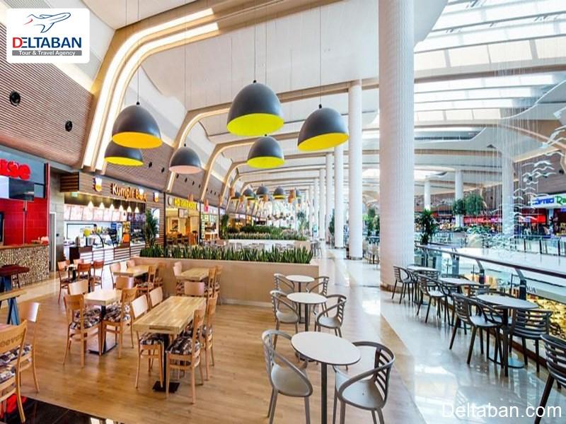 بخش رستوران ها و کافه های معروف مرکز خرید فروم استانبول