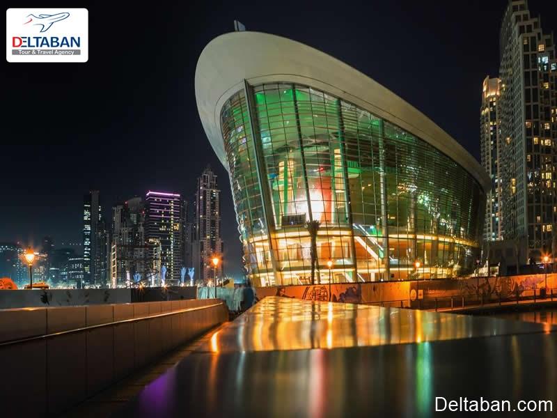 سالن اپرای دبی در شب