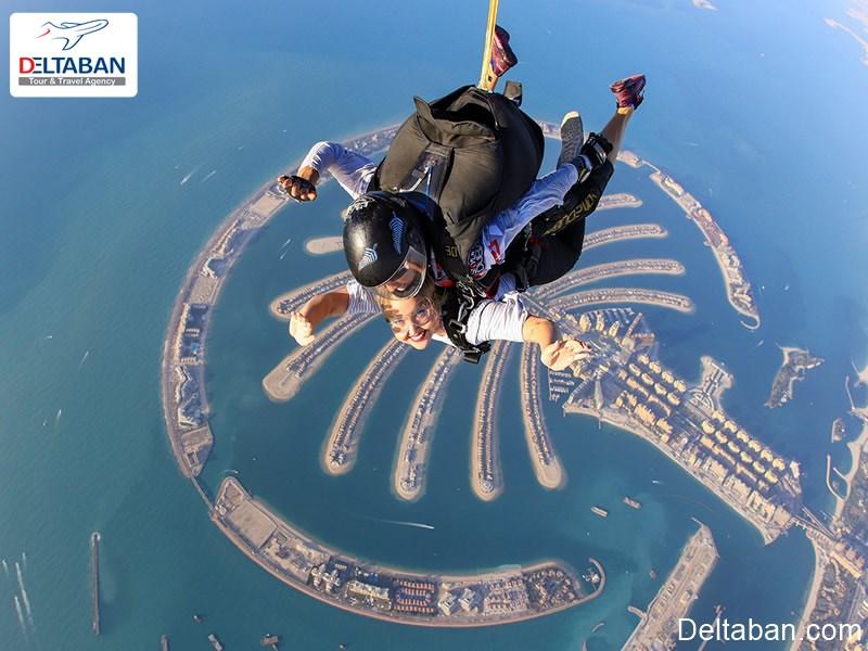 تفریح شیرجه هوایی در دبی
