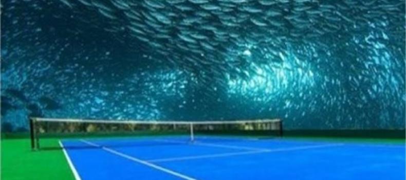 زمین تنیس زیر دریا دبی