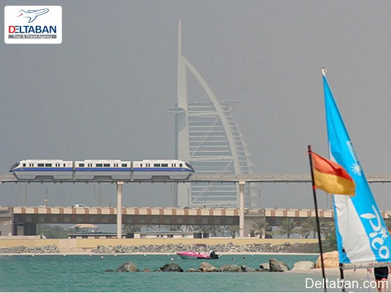 مونوریل سواری در دبی