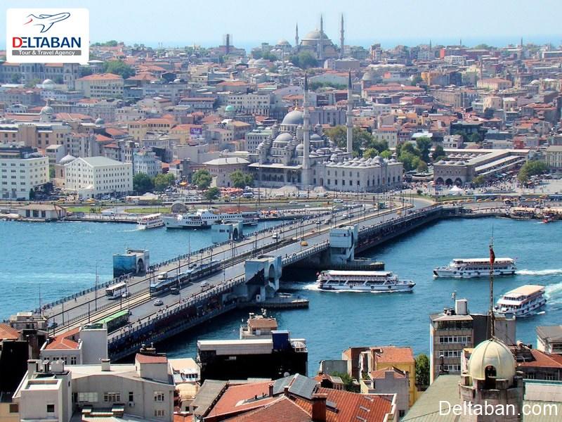 پل گالاتا از دیدنی ترین پل های استانبول