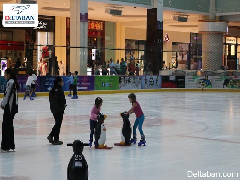 پیست یخ دبی از جاذبه های گردشگری دبی