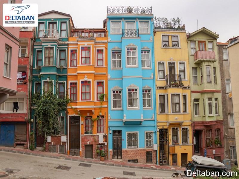 خانه های زیبا در محله بالات