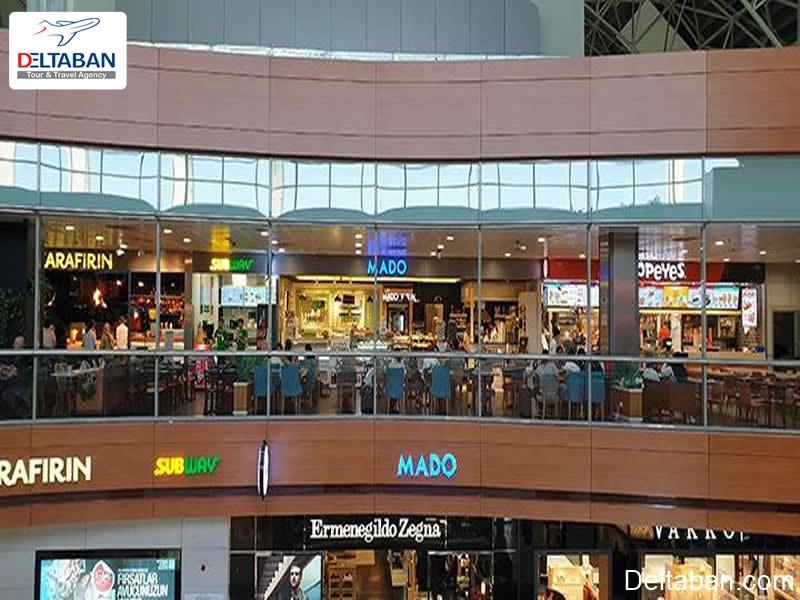 مراکز خرید و رستوران در فرودگاه سابیها استانبول