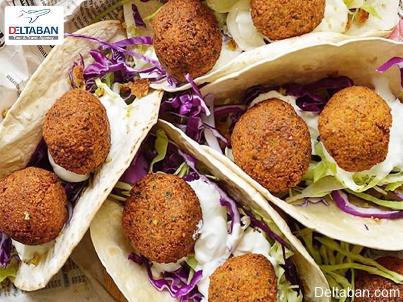 فلافل از غذاهای خیابانی دبی