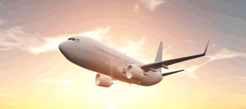 تصویر هواپیما در اوج آسمان