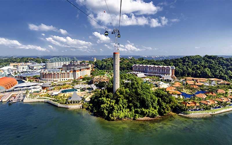 تصویری از جزیره سنتوسا سنگاپور