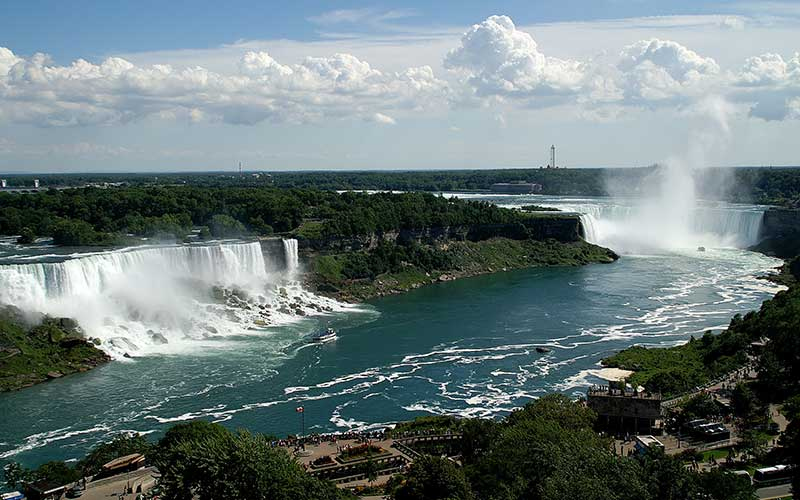 دو آبشار نیاگارا مرزی کانادا و آمریکا