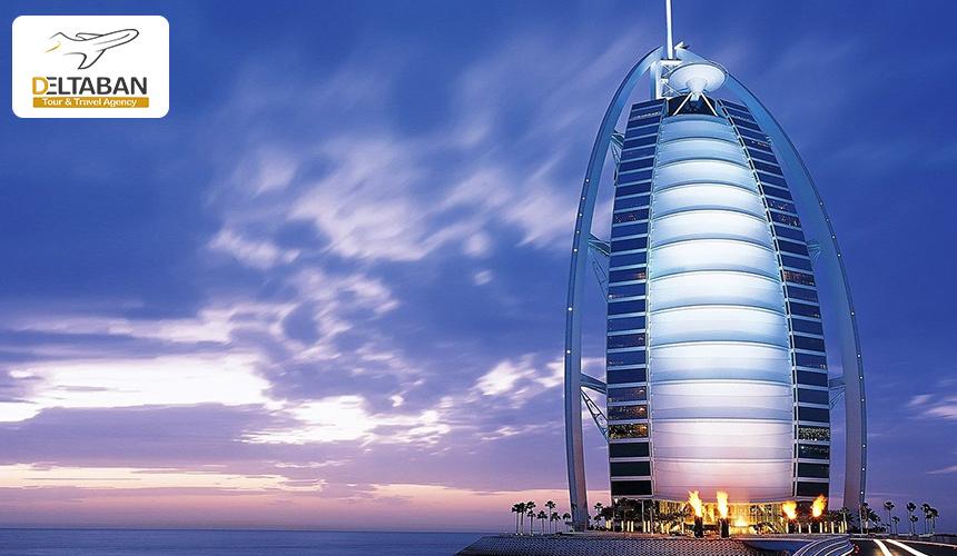 نمایی زیبا از برج العرب