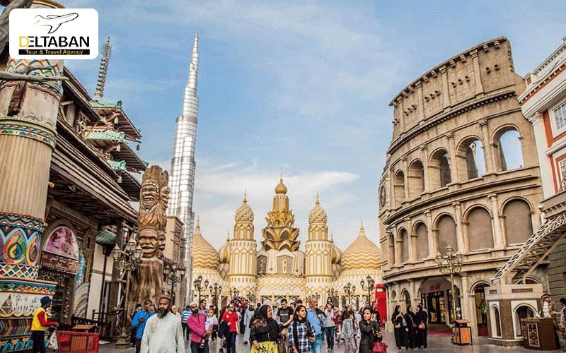 نمایی زیبا از دهکده جهانی دبی