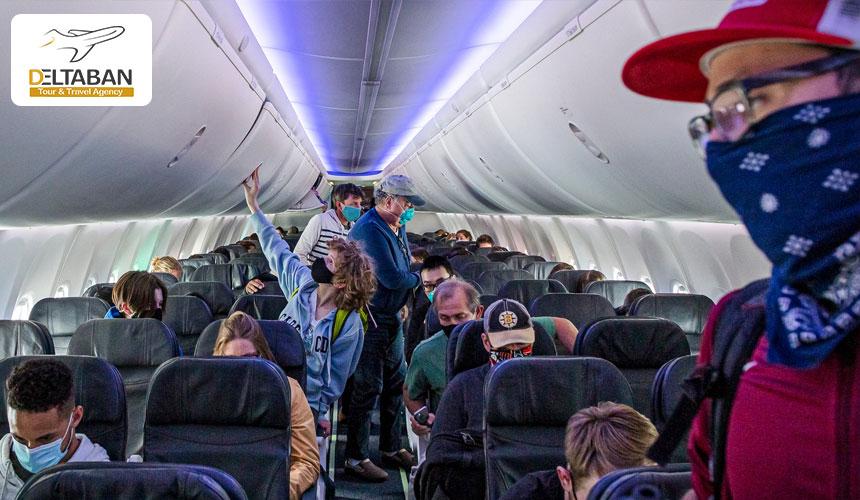 رعایت فاصله گذاری اجتماعی در هواپیما در دوران پسا کرونا