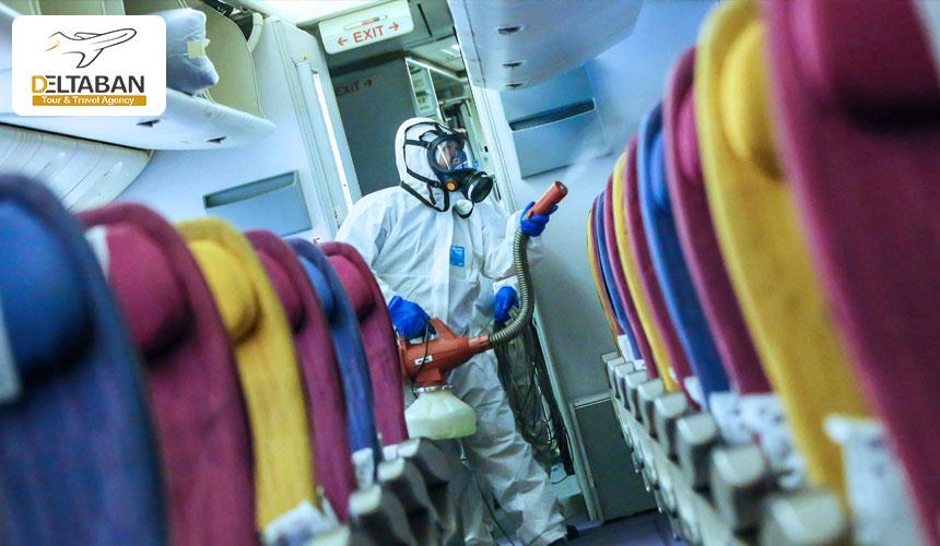 رعایت نظافت در داخل هواپیما در دوران پسا کرونا