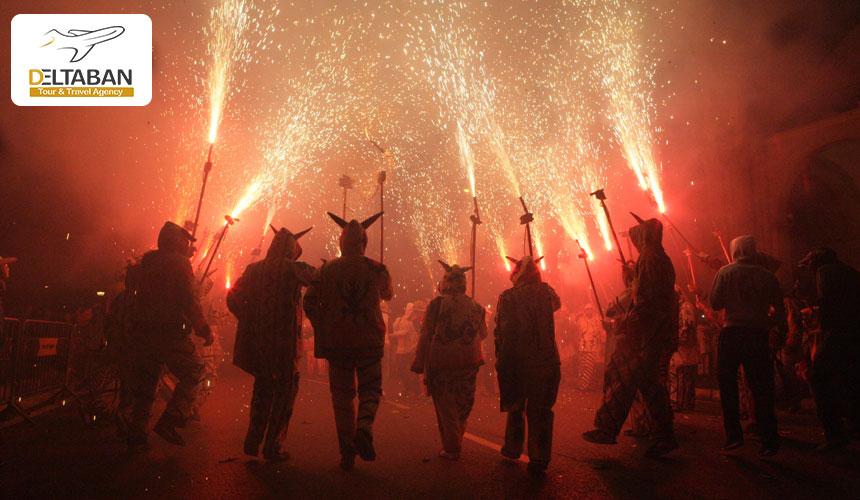 آتش بازی سنت جان از جذابترین جشن های اسپانیا