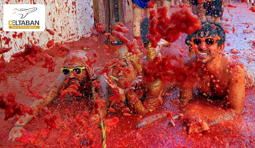 جشن گوجه فرنگی از جذابترین جشن های اسپانیا
