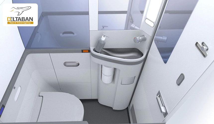 داخل سرویس بهداشتی هواپیما