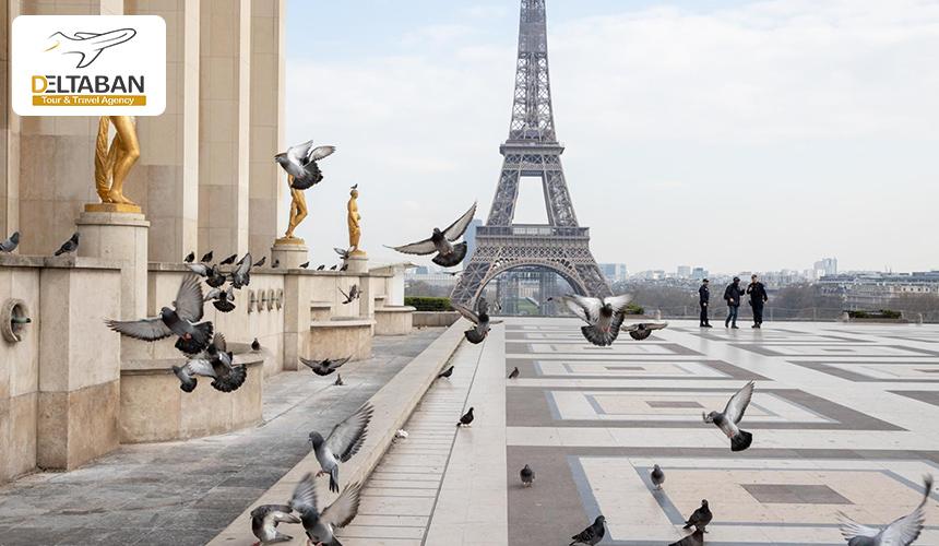 نمایی از برج ایفل پاریس