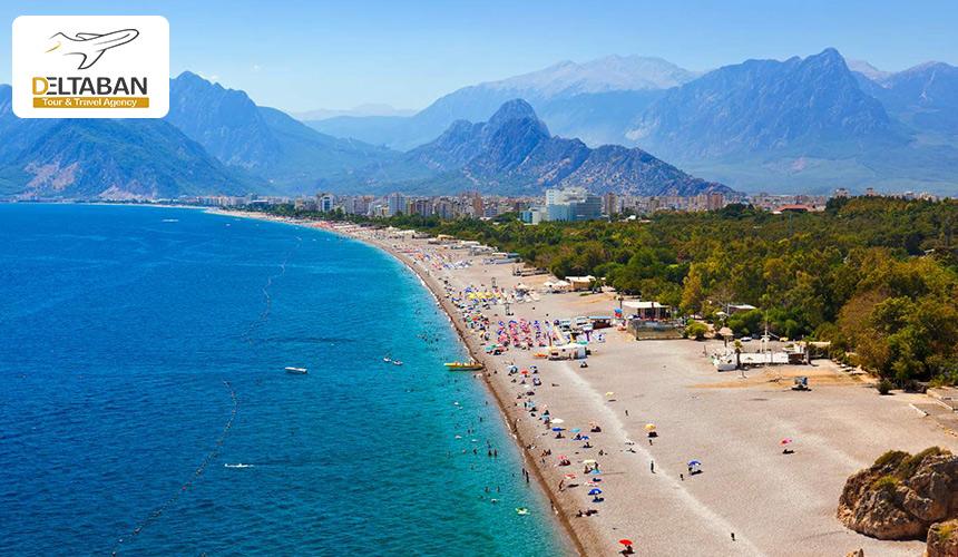 تصویری از ساحل آنتالیا