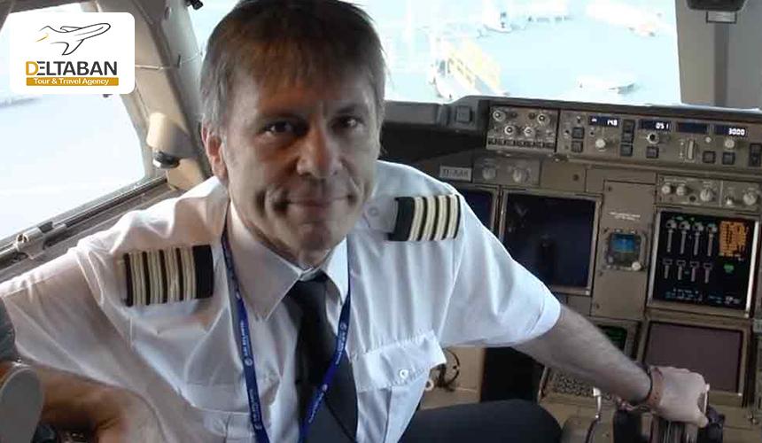 تصویری از بروس دیکینسون به هنگام رانندگی هواپیما
