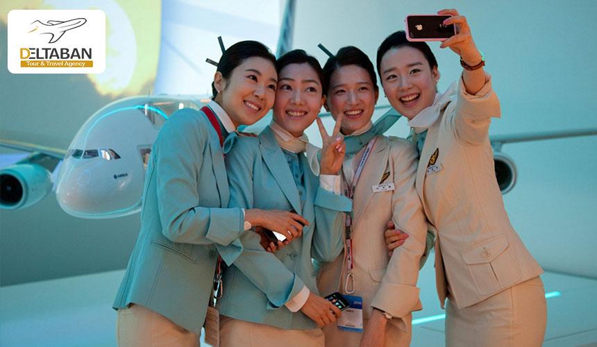 هواپیمایی کره از خوشتیپ ترین مهمانداران هواپیما
