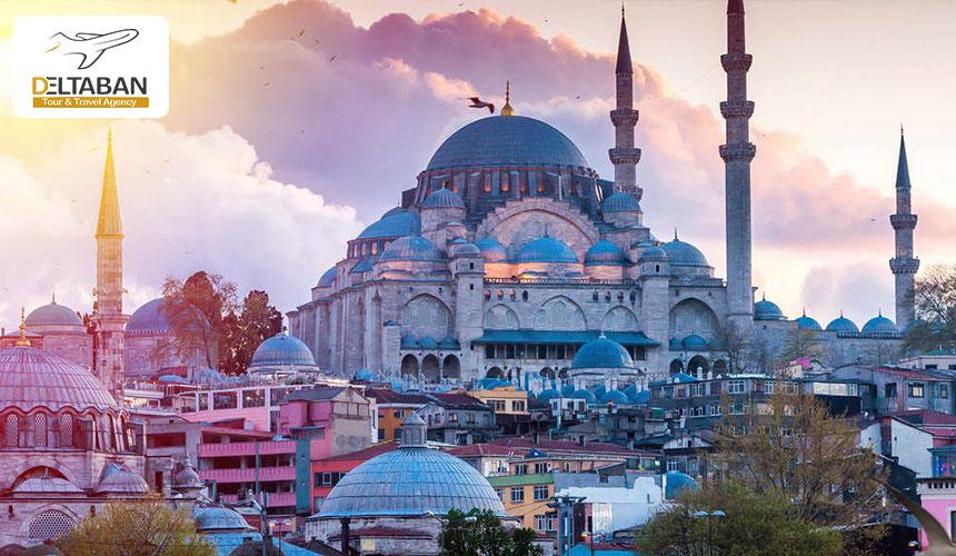 نمایی از مسجدی زیبا در استانبول